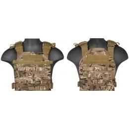 Lancer Tactical Polyester QR Lightweight Plate Carrier - CAMO