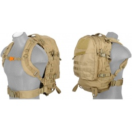 Lancer Tactical Airsoft LT Operator 3-Day Assault Pack - TAN