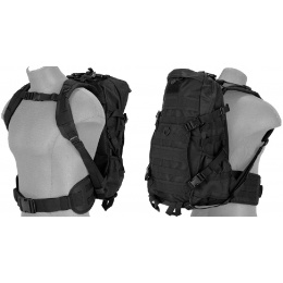 Lancer Tactical 600D EDC FAST Airsoft MOLLE Backpack - BLACK
