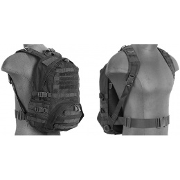 Lancer Tactical Airsoft Patrol Backpack w/ QD Buckles - BLACK