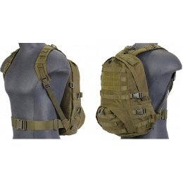 Lancer Tactical Airsoft Patrol Backpack w/ QD Buckles - OD GREEN