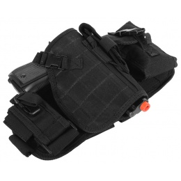 AMA MOLLE Drop Leg Airsoft Pistol Holster - BLACK