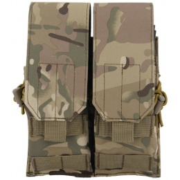 Lancer Tactical Dual Airsoft M4 / AK Magazine Pouch - CAMO