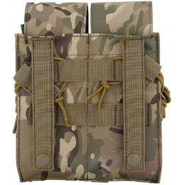 Lancer Tactical Dual Airsoft M4 / AK Magazine Pouch - CAMO