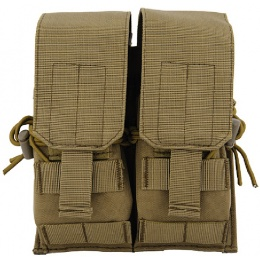Lancer Tactical Dual Airsoft M4 / AK Magazine Pouch - TAN