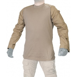 Lancer Tactical Airsoft Long Sleeve Combat Shirt - TAN