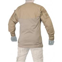 Lancer Tactical Airsoft Long Sleeve Combat Shirt - TAN
