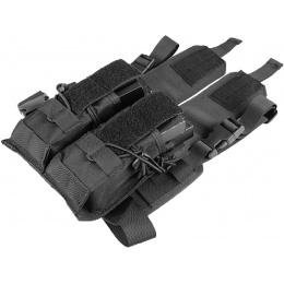 Lancer Tactical Airsoft 2x2 Magazine Pouch Leg Rig - BLACK