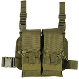 Lancer Tactical Airsoft 2x2 Magazine Pouch Leg Rig - OD GREEN