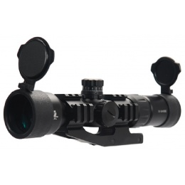 Lancer Tactical Airsoft 1.5-5x40 Tri-Illuminated Mil-Dot Rifle Scope