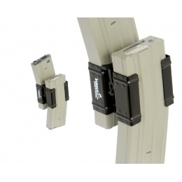 Lancer Tactical Full Metal Dual Magazine Clamp for M4 Series AEGs