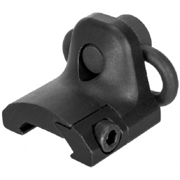 Lancer Tactical Rail Mount Hand Stop w/ QD sling swivel - Black