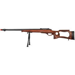 WellFire M70 Airsoft Bolt Action Sniper Rifle w/ Bipod - FAUX WOOD