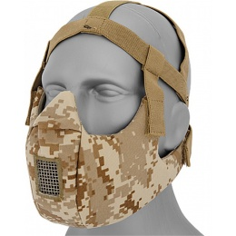 Airsoft V5 Conquerors Lower Half Face Mask - DIGITAL DESERT