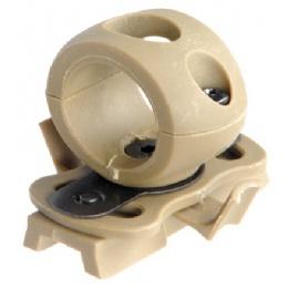 Lancer Tactical Airsoft FAST Helmet 20mm Rail Flashlight Clamp - DE