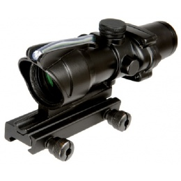 Lancer Tactical Airsoft 4X Magnification Fiber Optic Green Dot Scope