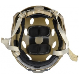 Lancer Tactical Airsoft FAST PJ Type Safety Helmet w/ Mount and Rails