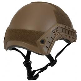 Lancer Tactical Airsoft Basic Ballistic Helmet - DARK EARTH
