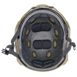 Lancer Tactical Airsoft Basic Ballistic Type Helmet w/ Visor-CAMO-MED