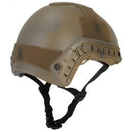 Lancer Tactical Airsoft Basic Ballistic Type Helmet w/ Visor-DE-MED