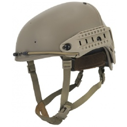 Lancer Tactical Airsoft BUMP Two-Piece CP AF Helmet - DARK EARTH