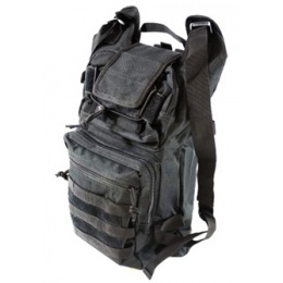 AMA Folding Backpack w/ MOLLE Webbing - BLACK