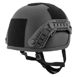 Lancer Tactical ACH MICH 2000 Airsoft Helmet with Side Rail - BLACK