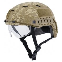 Lancer Tactical BUMP BJ Type Helmet with Visor - DESERT DIGITAL