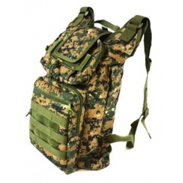AMA Folding Backpack w/ MOLLE Webbing - DIGITAL WOODLAND CAMO