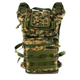 AMA Folding Backpack w/ MOLLE Webbing - DIGITAL WOODLAND CAMO