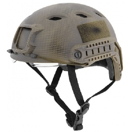 Lancer Tactical BUMP BJ Type Airsoft Helmet with Visor - NAVY CAMO