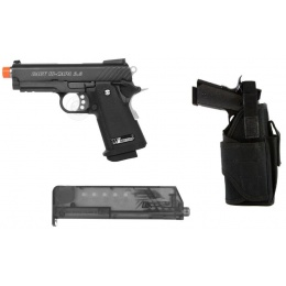 Gas Blowback Kit: WE Metal 3.8 Baby GBB Pistol w/ WrapLock Holster