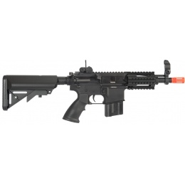 A&K Stubby CQB Full Metal M4 Series AEG with Crane Stock - BLACK