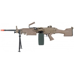 A&K Airsoft M249 MKII-T Machine Gun AEG w/ Box Magazine - DARK EARTH