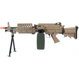 A&K Full Metal M249 MK46 SPW Support Rifle Airsoft AEG - TAN
