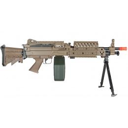 A&K Full Metal M249 MK46 SPW Support Rifle Airsoft AEG - TAN