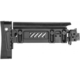ASP Airsoft Tactical AK AEG Folding Rifle Stock - BLACK