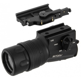 UK Arms Airsoft Quick-Detach M720V Flashlight Mount - BLACK