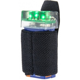 UK Arms 3-LED Green Flashing Marker Beacon w/ Hook and Loop System