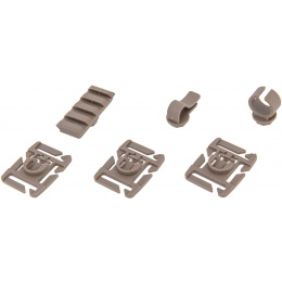 UK Arms MOLLE System Accessory Clips Kit - DARK EARTH