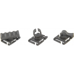 UK Arms MOLLE System Accessory Clips Kit - FOLIAGE GREEN