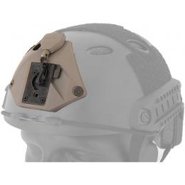 UK Arms L3 Series Helmet NVG Mount Component - DARK EARTH
