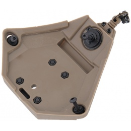 UK Arms L3 Series Helmet NVG Mount Component - DARK EARTH