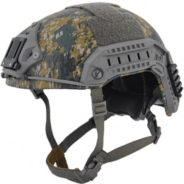 Lancer Tactical Airsoft Maritime Tactical Helmet w/ Chin Strap- WOODLAND CAMO