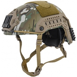 Lancer Tactical Airsoft Maritime Tactical Helmet w/ Chin Strap - CAMOUFLAGE