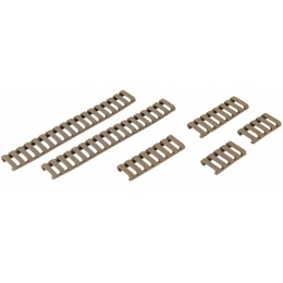 UK Arms Airsoft Ladder Rail Panel for 20mm Rail Set of 6 - DARK EARTH