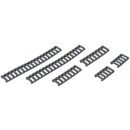 UK Arms Airsoft Ladder Rail Panel for 20mm Rail Set of 6 - FOLIAGE GREEN