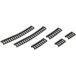 UK Arms Airsoft Ladder Rail Panel for 20mm Rail Set of 6 - BLACK