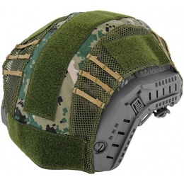 UK Arms Airsoft Maritime Tactical Mesh Helmet Cover - JUNGLE DIGITAL