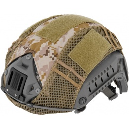 UK Arms Airsoft Maritime Tactical Mesh Helmet Cover - DIGITAL DESERT